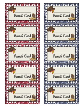 Wild West - Western Themed Punch Cards