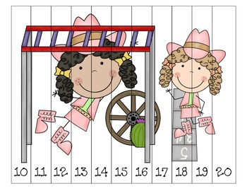 Wild West - Western Themed Sequencing Puzzles