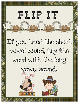 Wild West - Western Themed Word Decoding Strategies Posters