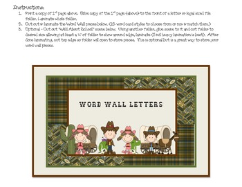 Wild West - Western Themed Word Wall Set