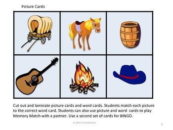 Wild West Word Work: Pictures and Labels for Reading and Vocabulary Practice