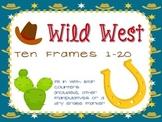 Wild West ten frames- blank ten frame cards for 1-20 Texas Cowboy theme