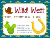 Wild West ten frames- blank ten frame cards for 1-20 Texas