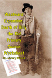 Westward Expansion: Death of Billy the Kid Primary Source Worksheet