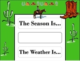 Wild Western Weather Chart! Western Bulletin Board! Wester