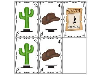 Wild, Wild Rest Worksheets & Card Game