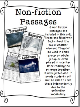 Wild, Wild Weather: Close Reading Passages and More!