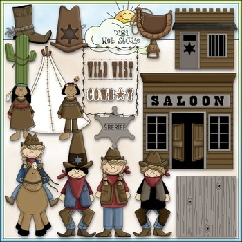 Wild, Wild West 2 - Commercial Use Clip Art & Black & Whit