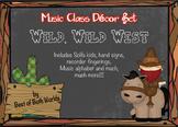 Wild, Wild West Music Decor