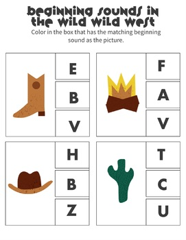 Wild Wild West Preschool Summer Packet