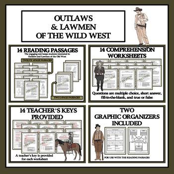 Wild, Wild West Reading Comprehension - MEGA BUNDLE