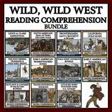 Wild, Wild West Reading Passages and Comprehension Questions - MEGA BUNDLE