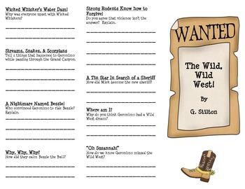 Wild, Wild West by G. Stilton-- Trifold