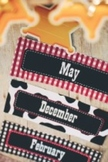 Classroom Decor Wild Wild Western Calendar Months