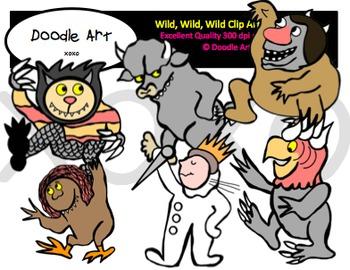 Wild, Wild, Wild Clipart Pack