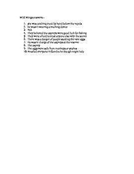 Wild Wings Questions