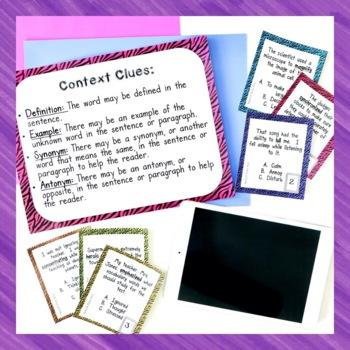 Wild Word Context Clues Card Game