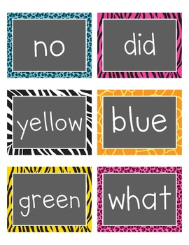 Wild Word Wall Words