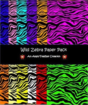 Zebra Clipart Paper Pack