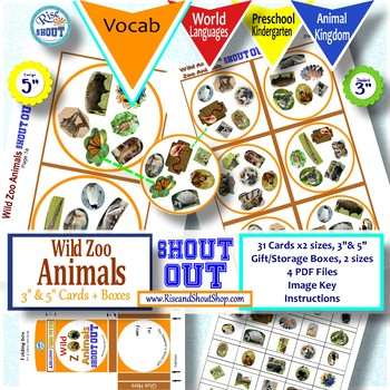 Wild Zoo Animals Shout Out; Spot the Match Game,  Can you Spot it?