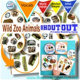 Wild Zoo Animals Shout Out; Spot the Match Game,  Can you