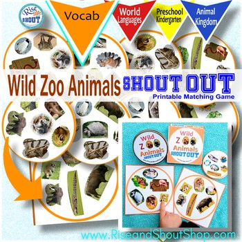 Wild Zoo Animals Shout Out; Spot the Match Game,  Kingdom