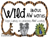 Wild about AW words: Task cards for using AW words