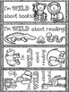 Wild about School Coloring Pages and Bookmarks