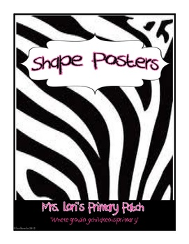 """Wild"" about Shape Posters"