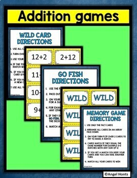 Addition fact game Wild about Sums 12 to 14