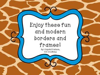 """""""Wild about Teaching"""" Borders and Frames"""