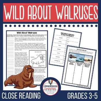 Wild about Walruses Close Reading Set