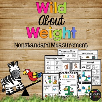 Wild about Weight Activities and Centers Early Primary K, 1st, and 2nd