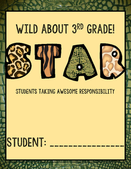 Wild about learning notebook cover