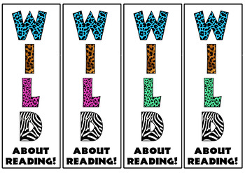 Wild about reading! Bookmarks