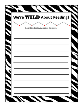 Wild about reading book list