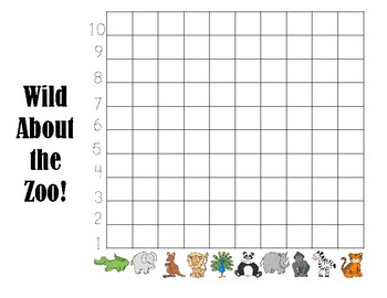 Wild about the Zoo Graph/Write Around the Room #1-10