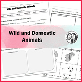 Wild and Domestic Animals Worksheet