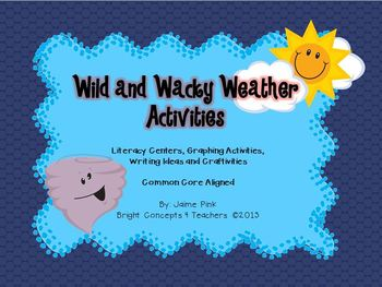Wild and Wacky Weather Activities {Common Core Aligned}