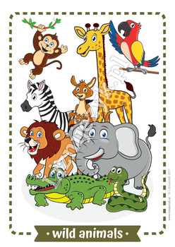 Wild animals - Flashcards - English