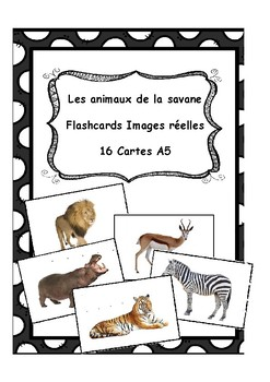 Wild animals flashcards (Real images) - Les animaux sauvages