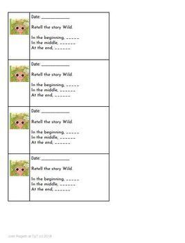 Wild by Emily Hughes 4-5 Day Lesson Plan and Activities