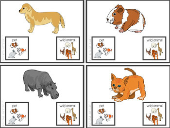 Wild or Domestic Animal? Task Card Set