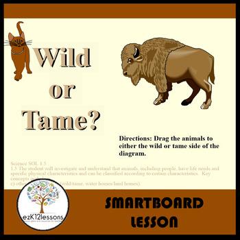 Wild or Tame?   Smartboard Activity