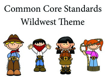 WildWest 2nd grade English Common core standards posters
