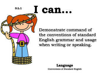 WildWest 3rd grade English Common core standards posters
