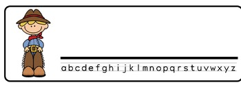 WildWest Theme Desk Nameplates (Set of Four)