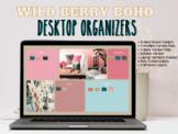 Wildberry Boho Desktop Organizer