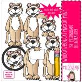 Wildcat / Bobcat Mascot clip art - Mini - by Melonheadz Clipart