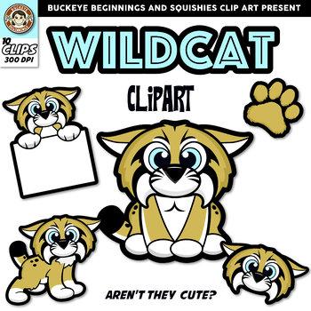 Wildcat Clip Art {Squishies Clipart}